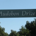 The riverside hiking is pleasant, and there's good bird-watching in this park in Fresno California. However the road to the park is signed Audobon, misspelling the name of the great naturalist and birder extraordinaire John James Audubon.