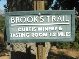 "The hiking trail named for winery founder and politician Brooks Firestone was incorrectly signed ""Brook's."" After more than 10 years, the apostrophe was removed from Brooks."