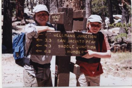 Many ways to go in the Mt. San Jacinto Wilderness, long a favorite of The Trailmaster and family.