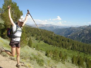 On the trail to health and fitness. women hikers lead the way.