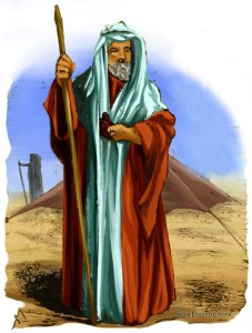 Abraham continued his walk in every sense of the word well past the age of 100. (illustration Bible History online)
