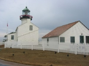 Old Point Loma Lighthouse, shining a light on this end of California since 1855. (courtesy NPS)