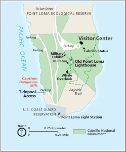 Map of Cabrillo National Monument