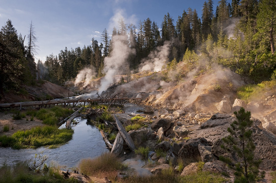 A network of trails links Devil's Kitchen and other hot attractions in Lassen Volcanic National Park. (courtesy NPS)