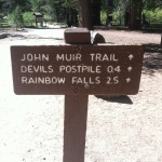 John Muir Trail leads to Devil's Postpile and Rainbow Falls.