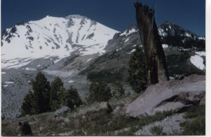 One-hundred mile views are the hiker's reward for climbing Lassen Peak.
