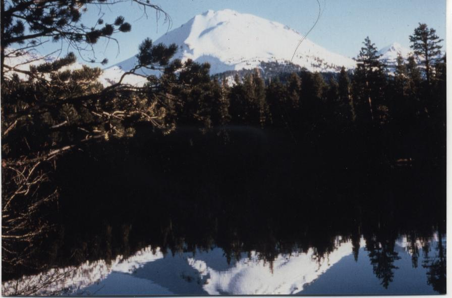 Lassen's lovely lakes reflect their shadow side.
