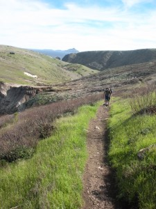 The climb to Cavern Point on Santa Cruz Island.