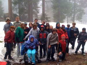 Kids love the big trees, even in spring when snow lingers in Sequoia National Park.