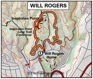 Will Rogers State Historic Park Map by TomHarrisonMaps.com (click to enlarge)