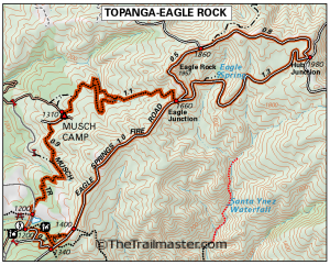 Topanga State Park Map by TomHarrisonMaps.com (click to enlarge)