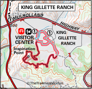 King Gillette Ranch Map by TomHarrisonMaps.com (click to enlarge)