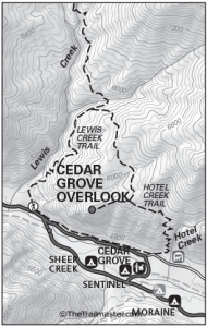 Cedar Grove Overlook Map by TomHarrisonMaps.com (click to enlarge)