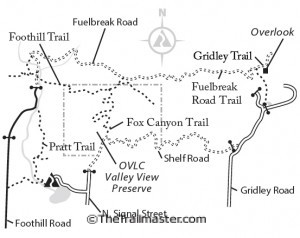 Ojai Valley Map by Mark Chumley (click to enlarge)