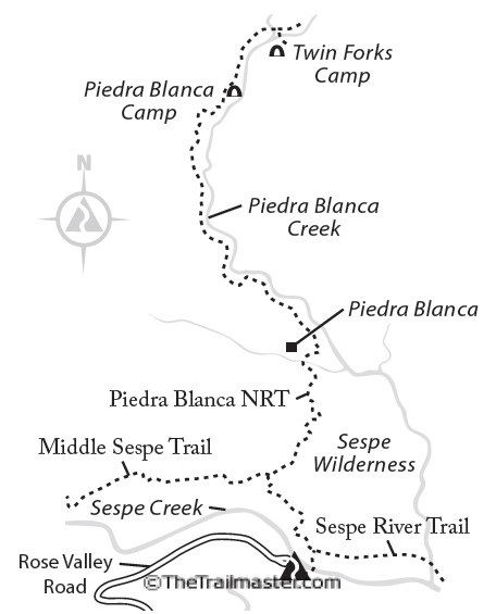 Piedra Blanca Map by Mark Chumley (click to enlarge)