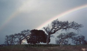 Hike to the end of the rainbow--or at least to a crest in the Santa Ynez Mountains.