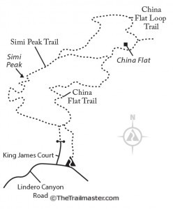 Simi Peak Map by Mark Chumley (click to enlarge)