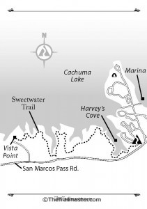 Cachuma Lake Map by Mark Chumley (click to enlarge)