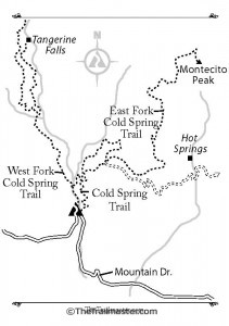 Cold Spring Canyon Map by Mark Chumley (click to enlarge)