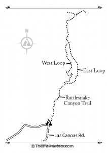 Rattlesnake Canyon Map by Mark Chumley (click to enlarge)