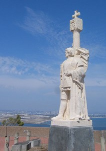 Cabrillo's statue overlooks San Diego Bay, which has undergone a change or two since the explorer discovered it in 1542!