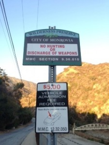 Enjoy Monrovia Canyon but bring along $5; dozens of park signs remind you to pay up before you take a hike.