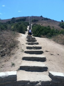 Baldwin Hills Overlook State Park attracts a diversity of hikers with pathways, a stair-climb, and great metro vistas.