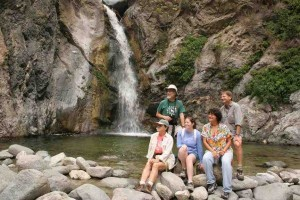 Eaton Canyon Falls is a splendid little hike; getting to the upper falls, though, can be treacherous.