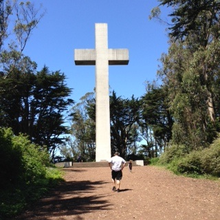 Hike to the cross atop Mt. Davidson, the highest summit in San Francisco.