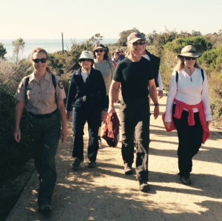 A Ranger-led hike drew 100 happy hikers on a First Day Hike at Carpinteria State Beach.
