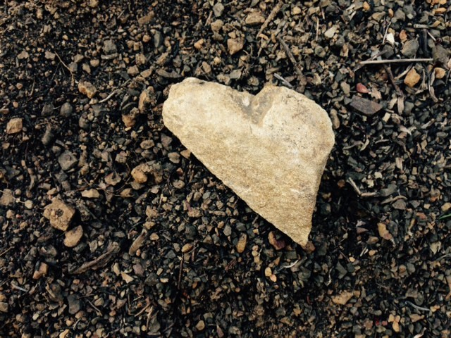 I HEART Hiking Ojai. I spotted this heart-shaped rock on the Gridley Trail.