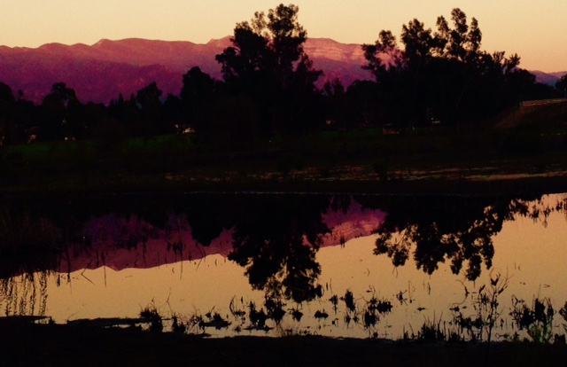 Hikers love the sunsets in Ojai, especially those Pink Moments, like this one captured by The Trailmaster in Ojai Valley Preserve.