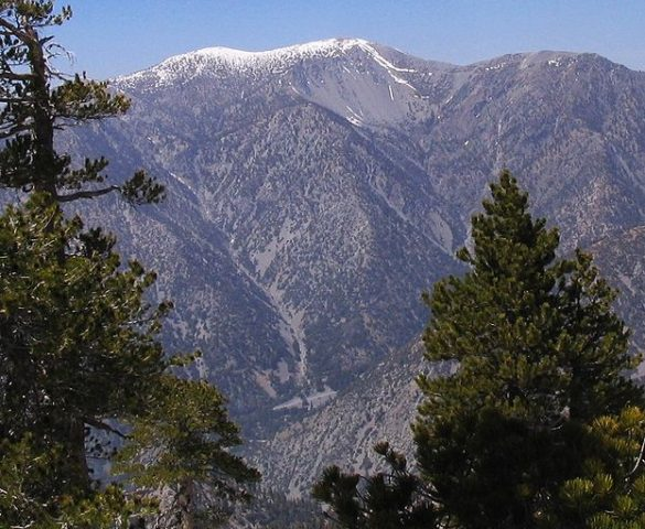 Mt. Baldy, high point of the San Gabriel Mountains (Will Beback)