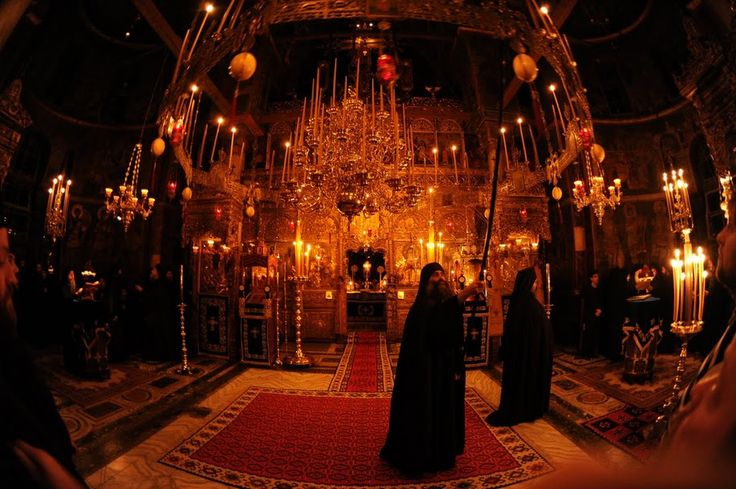 Natural light and candle light illuminate the extraordinary churches on Mount Athos.
