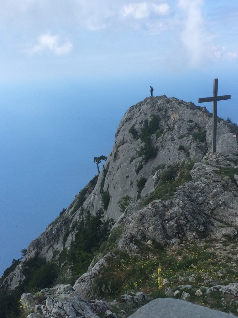 This promontory by Panaghia Chapel offers hikers glorious views of the Mt Athos coastline.