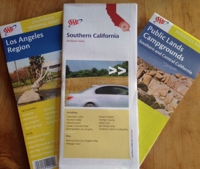 "Auto Club maps helpful for SoCal hikers include ""Los Angeles Region,"" ""Southern California"" and ""Public Lands and Campgrounds"""