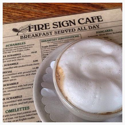 Hearty and homemade breakfast and lunch at the Fire Sign Cafe