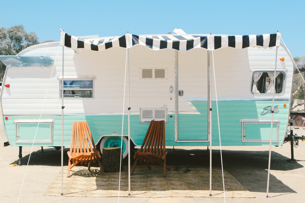 New way to camp: stay in a vintage trailer at San Clemente State Beach.