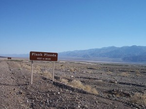 Visitors Beware: Flash floods occur even in Death Valley NP.