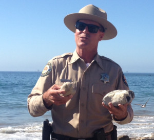 Rich Rozzelle, District Superintendent for California State Parks, explained the huge clean-up effort that took place after the oil spill at Refugio State Beach.