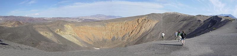 Enjoy a hike around the rim of Ubehebe Crater in Death Valley National Park.