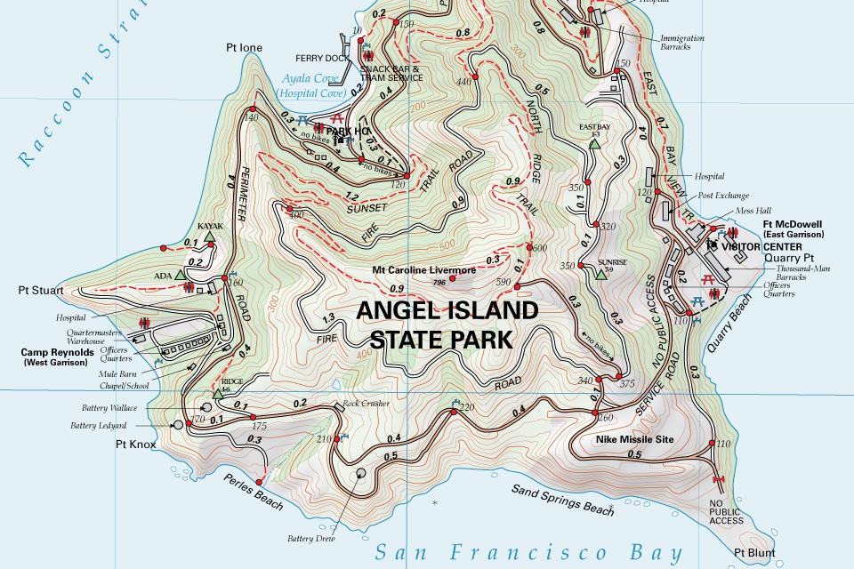 Hike up, down and all around Angel Island