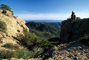 Hikers are treated to terrific ocean and metropolitan vistas from the Backbone Trail (photo Chuck Graham)