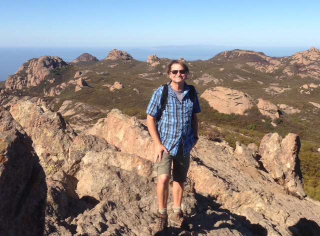 John McKinney, near Sandstone Peak, on a recent hike along the Backbone Trail
