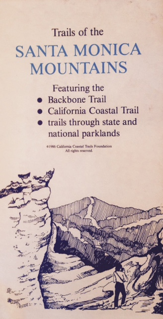 As a way to advocate for the completion of the trail, the California Coastal Trails Foundation mapped the Backbone Trail in 1986.