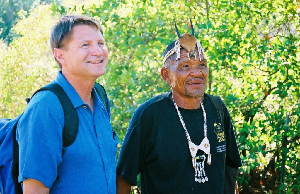 Everyone loves the Backbone Trail! John McKinney was the guide for visiting Bushmen from Southern Africa,