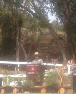 David Szymanski, superintendent of the Santa Monica Mountains National Recreation Area, was the master of ceremonies at a recent gathering celebrating completion of the Backbone Trail.