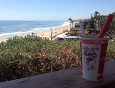Crystal Cove Beach as viewed from the deck of Ruby's Shake Shack