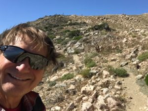 """JT is one of my favorite places to hike,"" declares Trailmaster John McKinney, seen here on the trail in the Keys View area of Joshua Tree National Park."